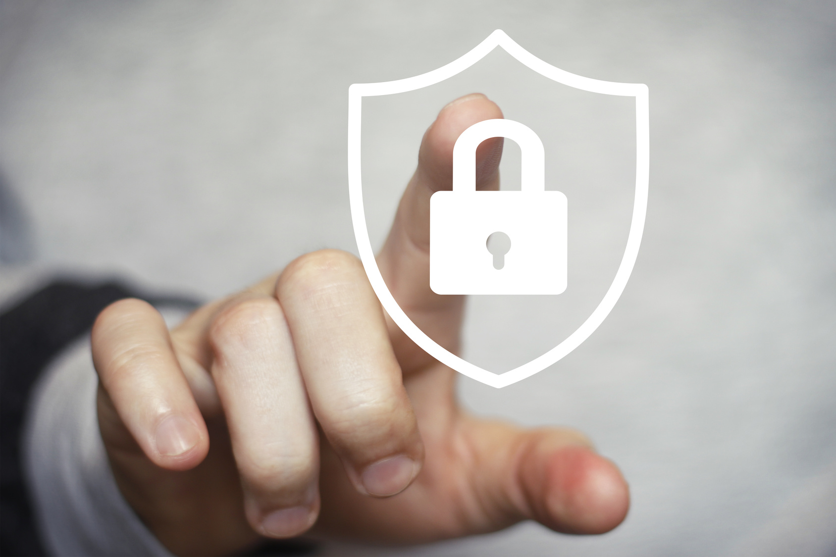 Button shield security lock virus business online icon